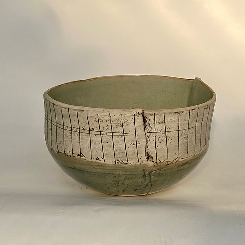 Stripe Celadon Bowl