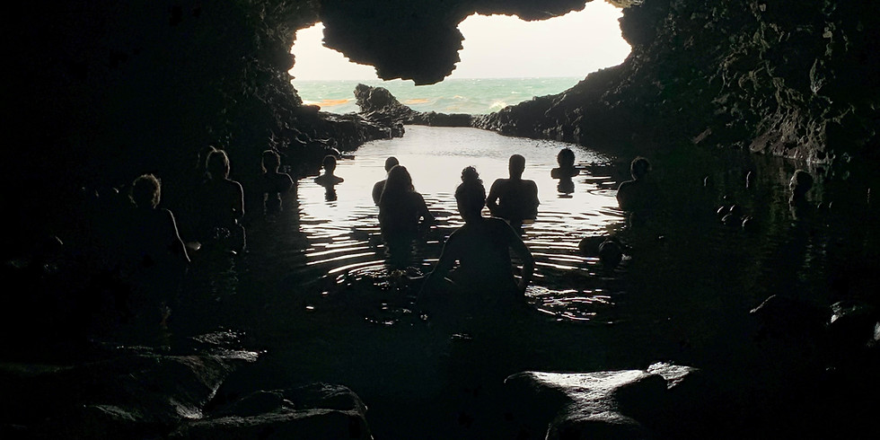 Full Moon Gong Bath in the Cave followed by  a Cliff Top Supper $80