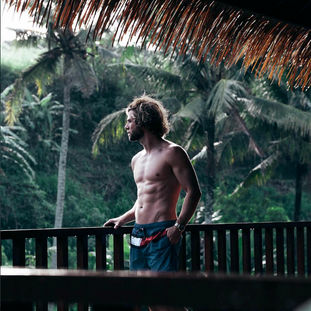 Thijs chilling at the new SereS Springs Resort & Spa  on Bali