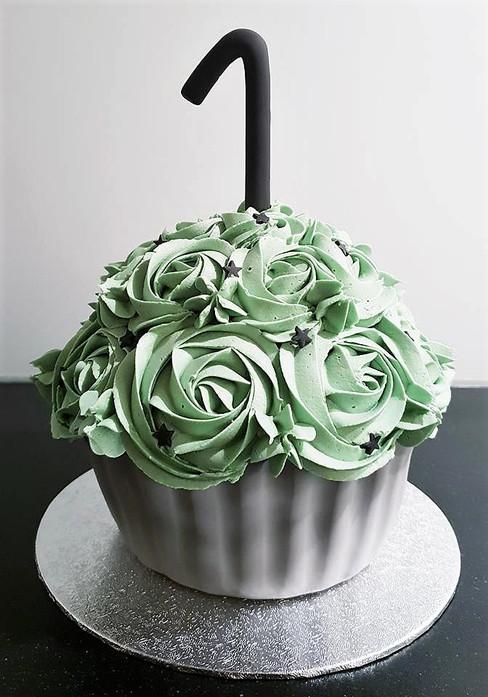 Giant cupcake voor een cakesmash fotosessie.