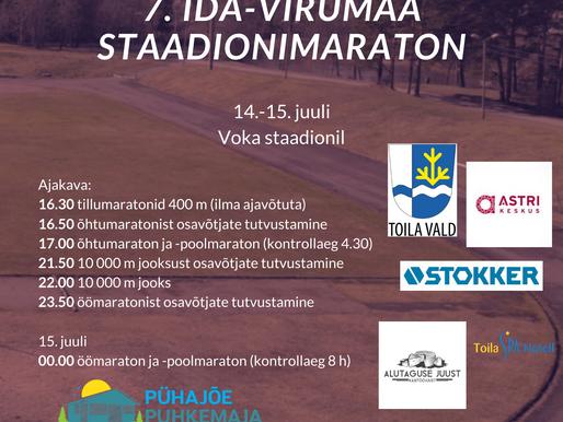 14.-15. juulil toimub Voka staadionil Ida-Virumaa staadionimaraton!