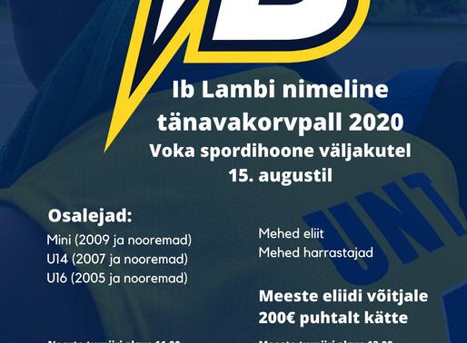 15. augustil toimub Vokas Ib Lambi nimeline tänavakorvpalliturniir