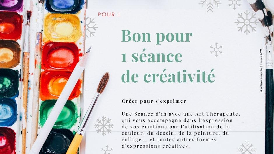 Bon cadeau - Séance de créativité
