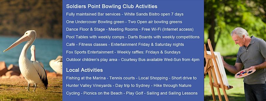 Over 55's Resort Style, Retirement Living in Port Stephens Solders Point