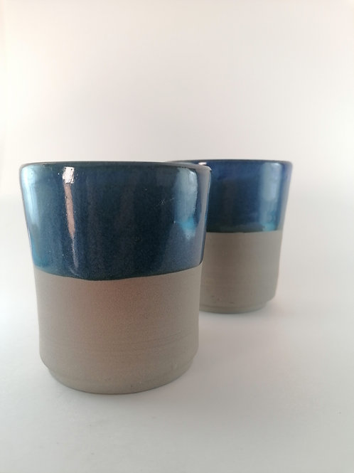Set of 2 Blue Cups