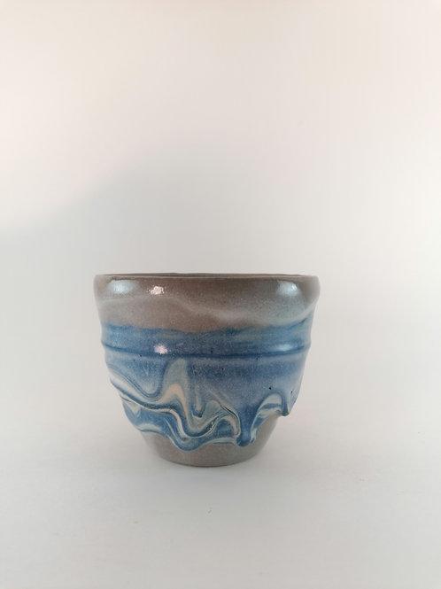 Blue Drip Cup