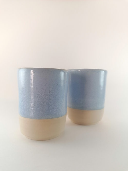 Set of 2 light blue Cups