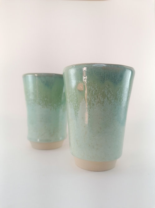 Set of 2 Green Cups