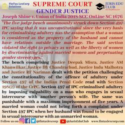 GENDER JUSTICE-Joseph Shine v