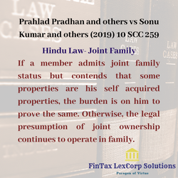 CASE-Hindu Law- Joint Family