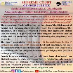 GENDER JUSTICE-Suchita Srivastava & Anr.