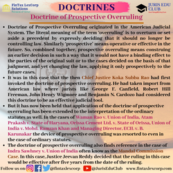 DOCTRINES-DOCTRINE OF PROSPECTIVE OVERRU