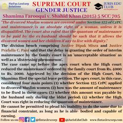 GENDER JUSTICE-Shamima Farooqui v