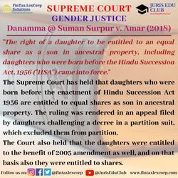 GENDER JUSTICE-Danamma @ Suman Surpur v.