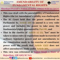 CONSTITUTION CASES-Shankari Prasad v