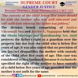 GENDER JUSTICE-Roxann Sharma v