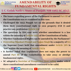 CONSTITUTION CASES-I. C. Golak Nath v