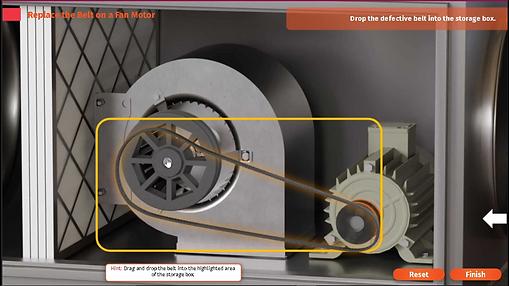 replacing belt from a fan motor