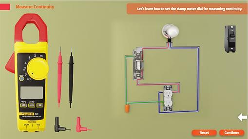Multimeter setup to measure continuity