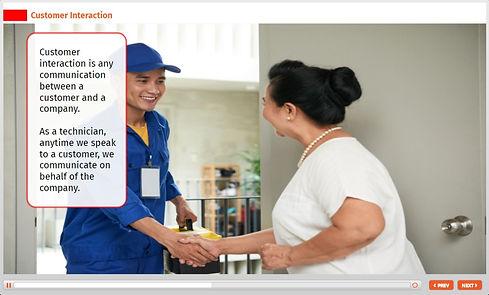 customer service agent and customer