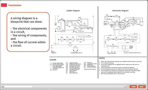 schematic circuit diagram