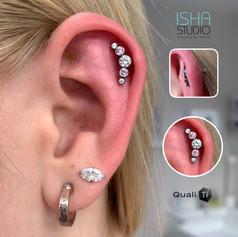 Piercing by Emma at Isha Studio