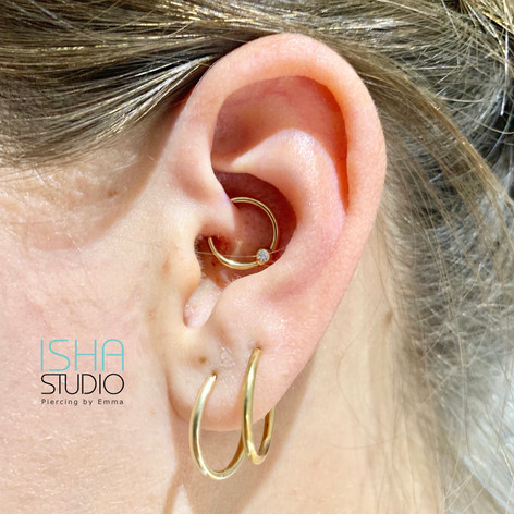 Piercing by Emma at Isha Studio