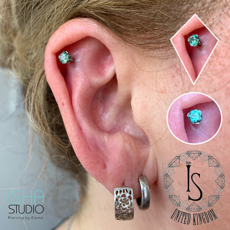 Industrial Strength Piercing by Emma at Isha Studio
