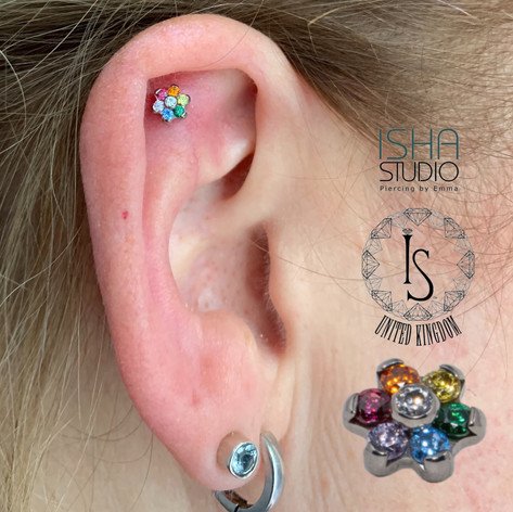 Industrial Strength Piercing by Emma at Isha Studio