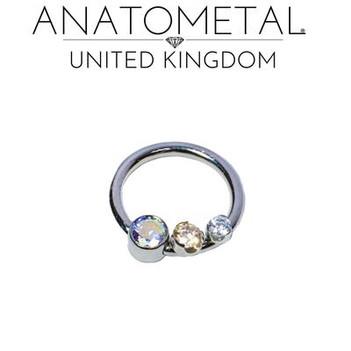 Anatometal Ti front set captive bead rin