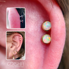 junipurr 14ct gold opal cups on a double helix piercing by emma at isha studio.jpg