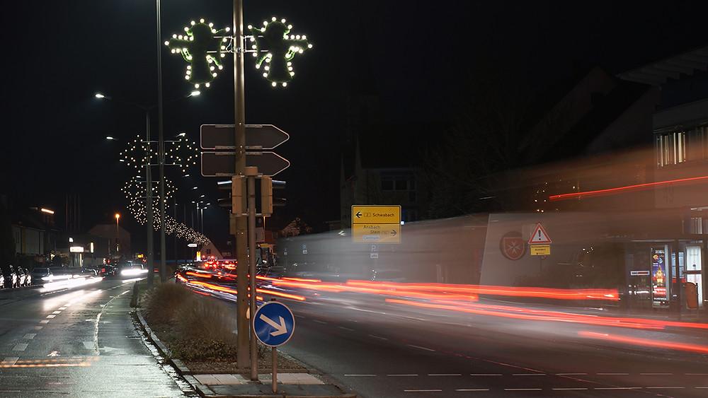 Weihnachtsbeleuchtung in Nürnberg-Eibach