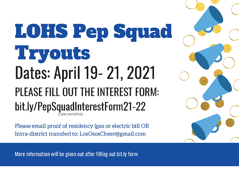 LOHS Pep Squad TryoutsFreshmen co2025.pn