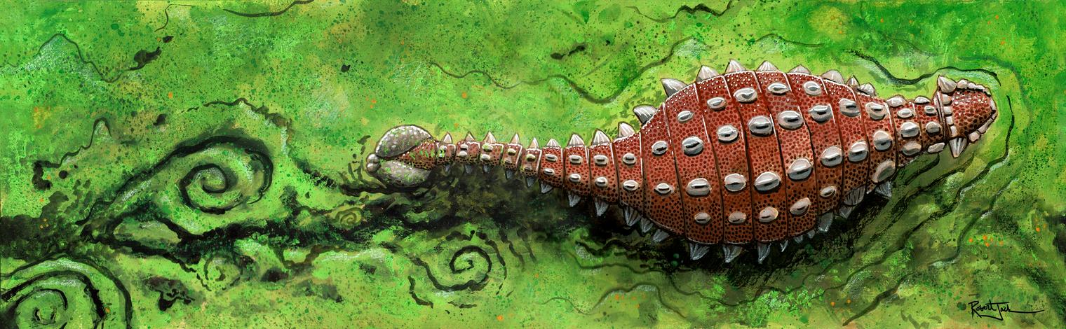 Swamp Crossing Ankylosaurus