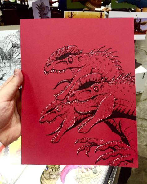 Dilophosaurus Pack Sketch