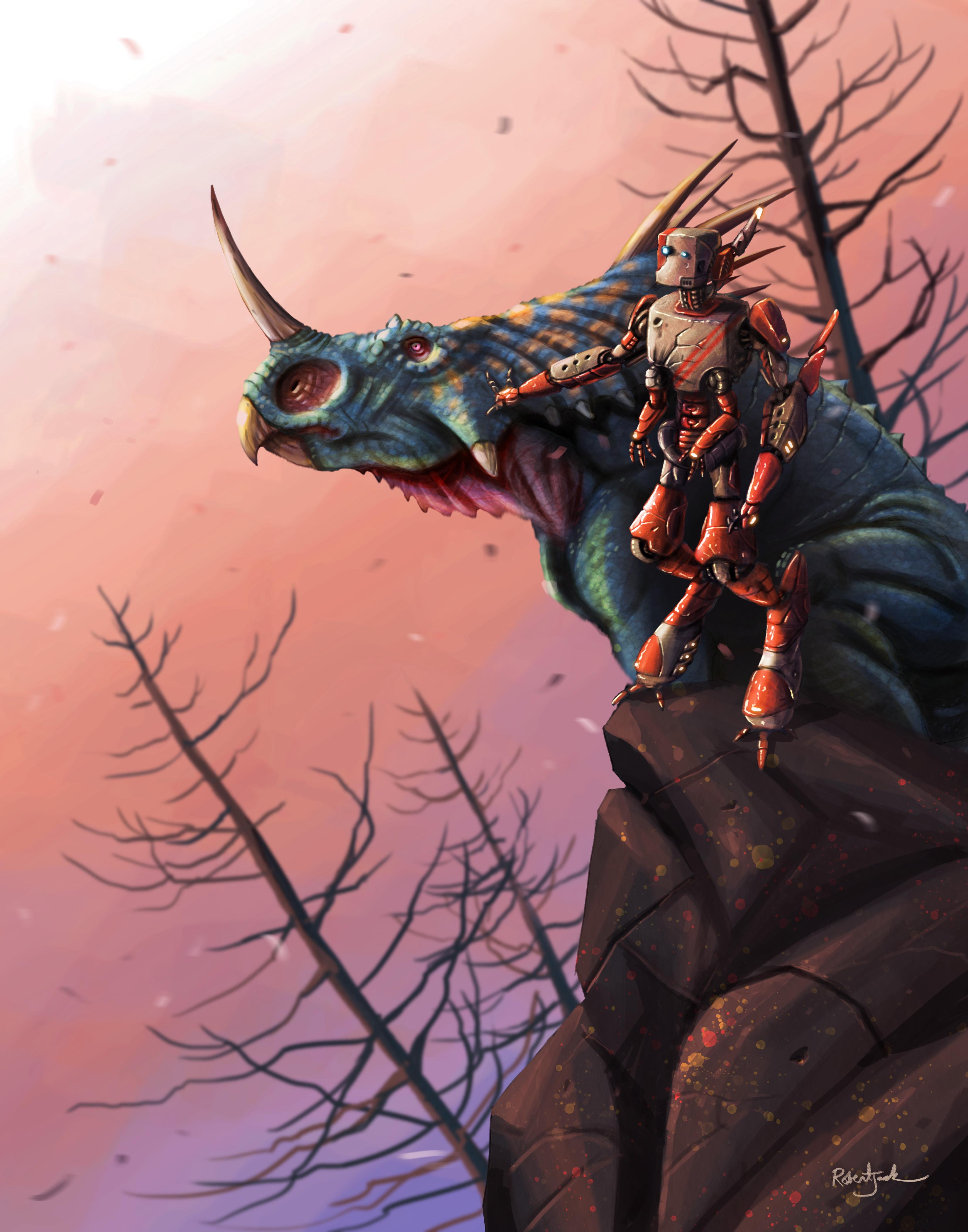 Robot and Styracosaurus