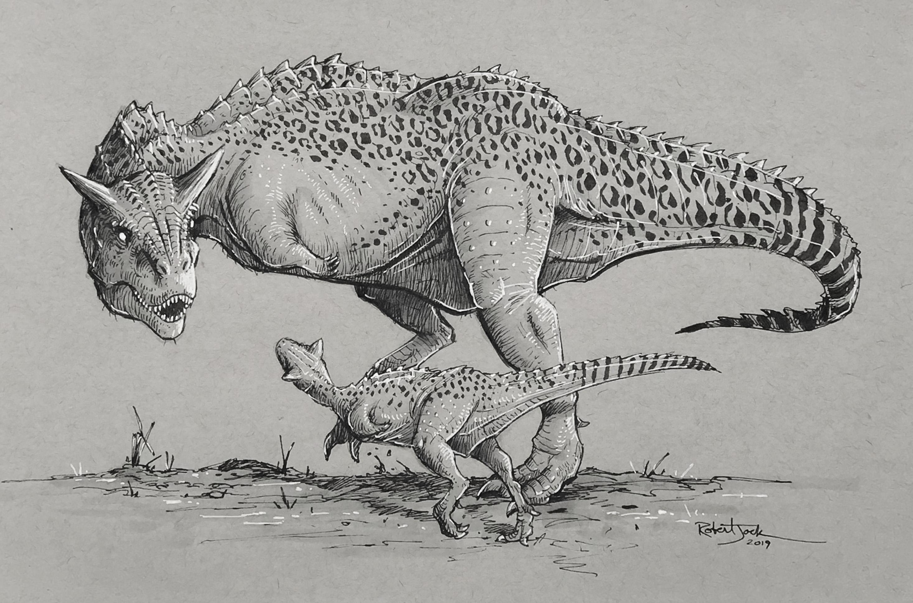 Carnotaurus and Infant