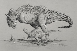 Carnotaurus and Infant