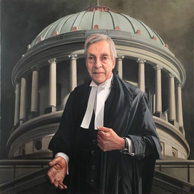 Portrait of Ross Gillies, QC, 2017 oil on linen 120 x 120 cm Peter O'Callaghan Gallery Foundation