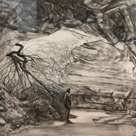 Threshold, 2018 charcoal and pencil on paper 48.5 x 70.5cm 20312 cat.28
