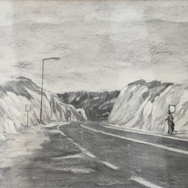 Road to the Lost and Found, 2017 pencil on paper 15.5 x 30.5cm 20314 cat.29