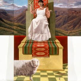 Secret Self, 1990 Oil on linen 91 x 270 cm 135 x 210 cm
