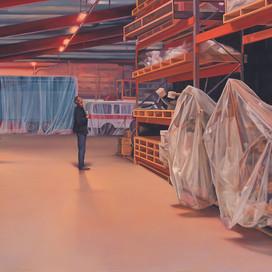 Beneath the Surface, 2005 Oil on linen 106 x 198 cm