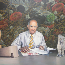Portrait of Hatem Salem, 2014 oil on linen 100 x 74cm Monash University