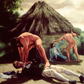 War, 1996  Oil on Canvas  153 x 102 cm
