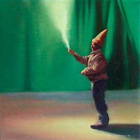 Magic Man, 2002 Oil on linen 22.5 x 22.5 cm