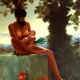 Birth of the Australian, 1996  Oil on canvas  153 x 102 cm