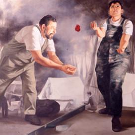 Il Capomastro, 1999 Oil on linen 102 x 102 cm
