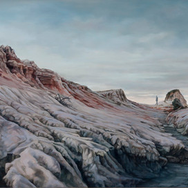 The question, 2012 oil on linen 85 x 215 15313 cat.1