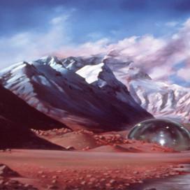 Biosphere III, 2002 Oil on linen 106.5 x 183 cm